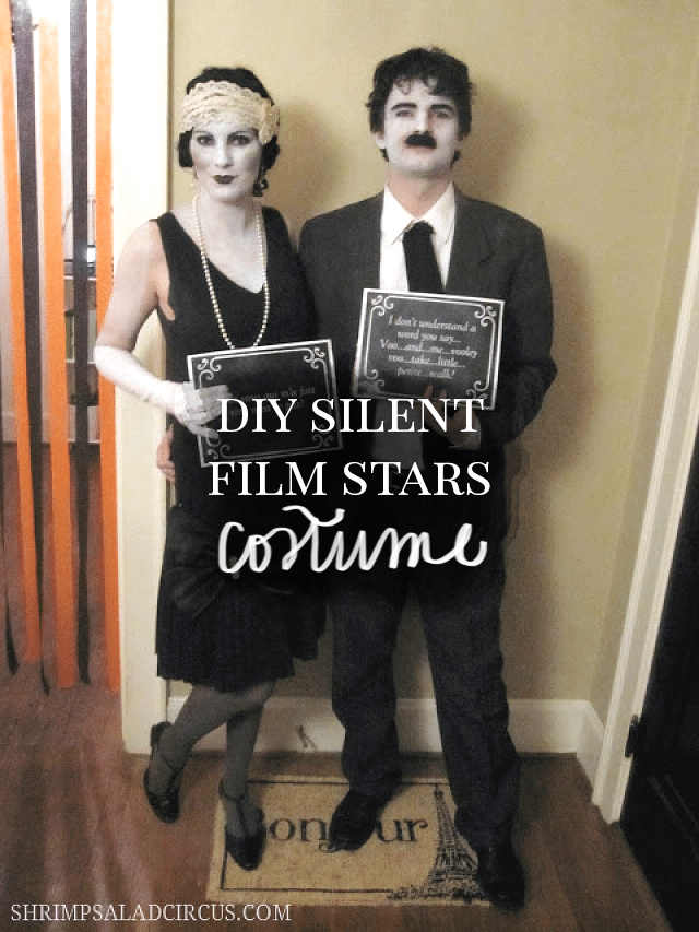 DIY Silent Film Stars Halloween Costume for Couples