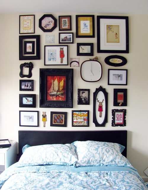 How To Make A Frame Collage Faux Headboard Shrimp Salad Circus