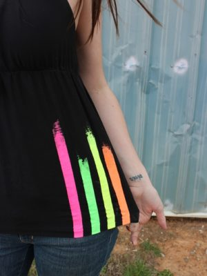 Paint Striped Neon Shirt . How To-sday thumbnail