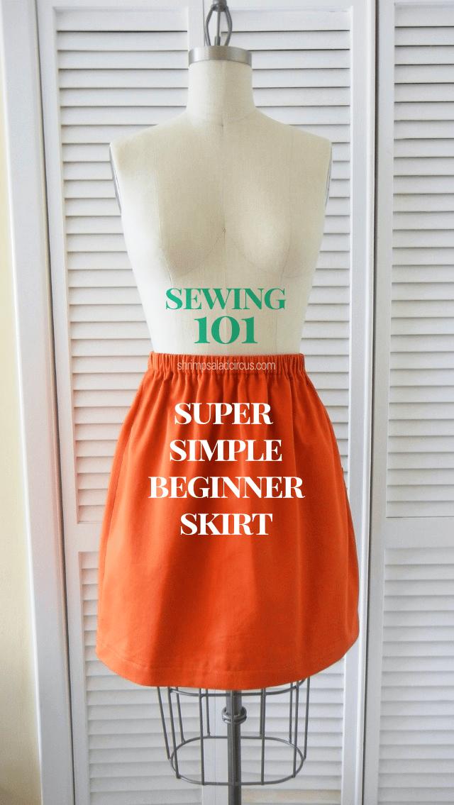 How to Make an Elastic Waist Skirt Pattern - Beginner Skirt Sewing ...