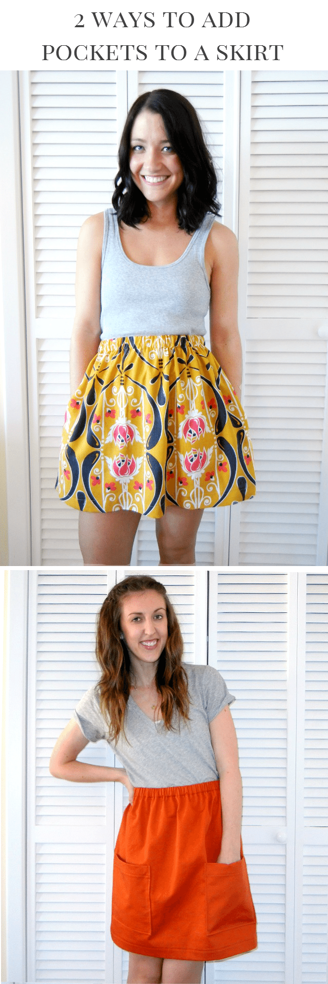 How to Add Pockets to a Skirt