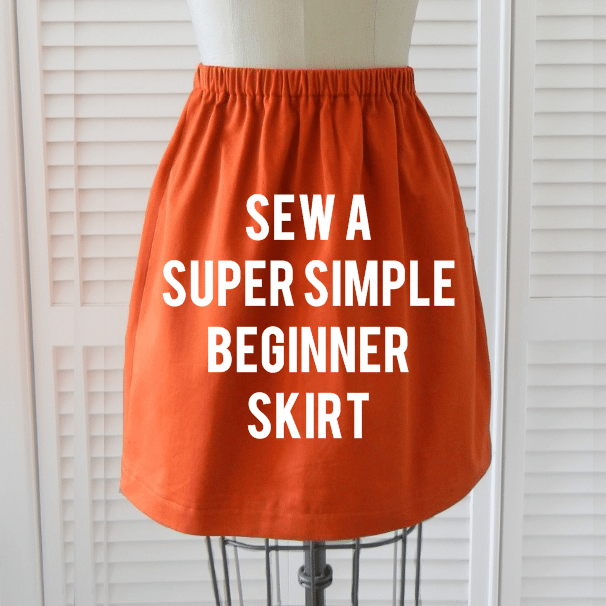 How to Sew a Simple Skirt from a DIY Elastic Waist Skirt Pattern