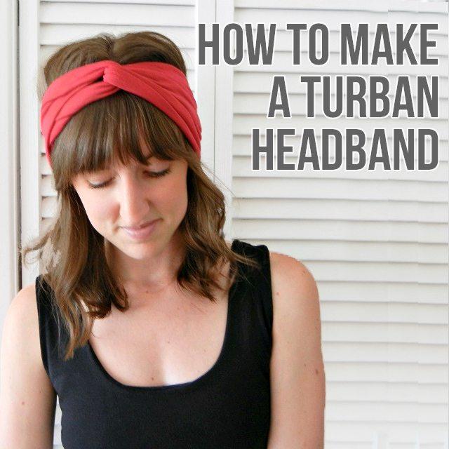 How to Make a Turban Headband - Shrimp Salad Circus b1b08510de3