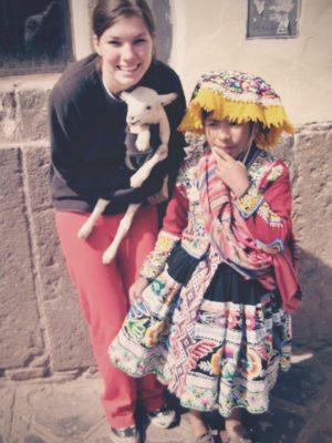 lindsay hugs all the animals no. 5 . lamb thumbnail
