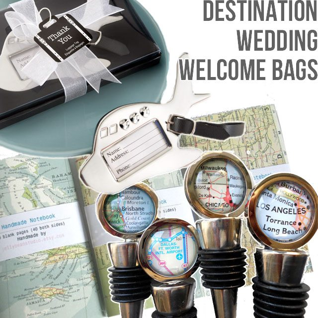 Welcome bags for a destination wedding shrimp salad circus for How to start planning a destination wedding