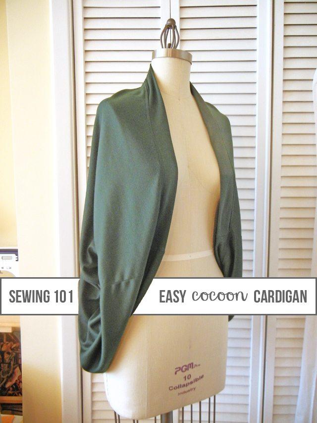 Knitting Cardigan Tutorial : Cozy cocoon cardigan sewing tutorial