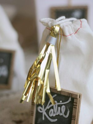 Easy DIY Metallic Gift Tassels thumbnail