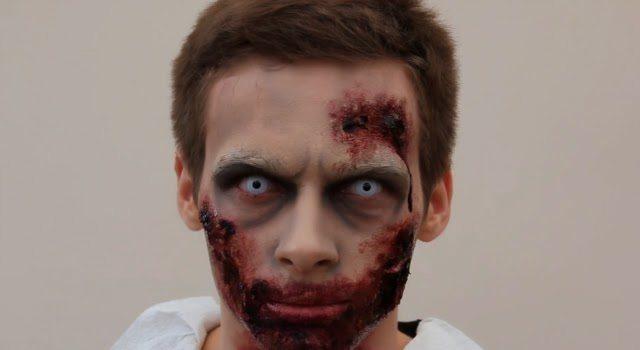 DIY Halloween Makeup for Guys - Zombie
