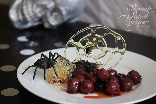 Halloween Spun Sugar Spiderweb Dessert
