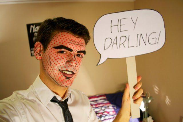 DIY Halloween Makeup for Guys - Lichtenstein Character
