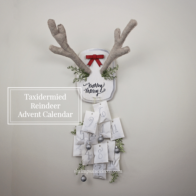 reindeer antlers advent calendar diy