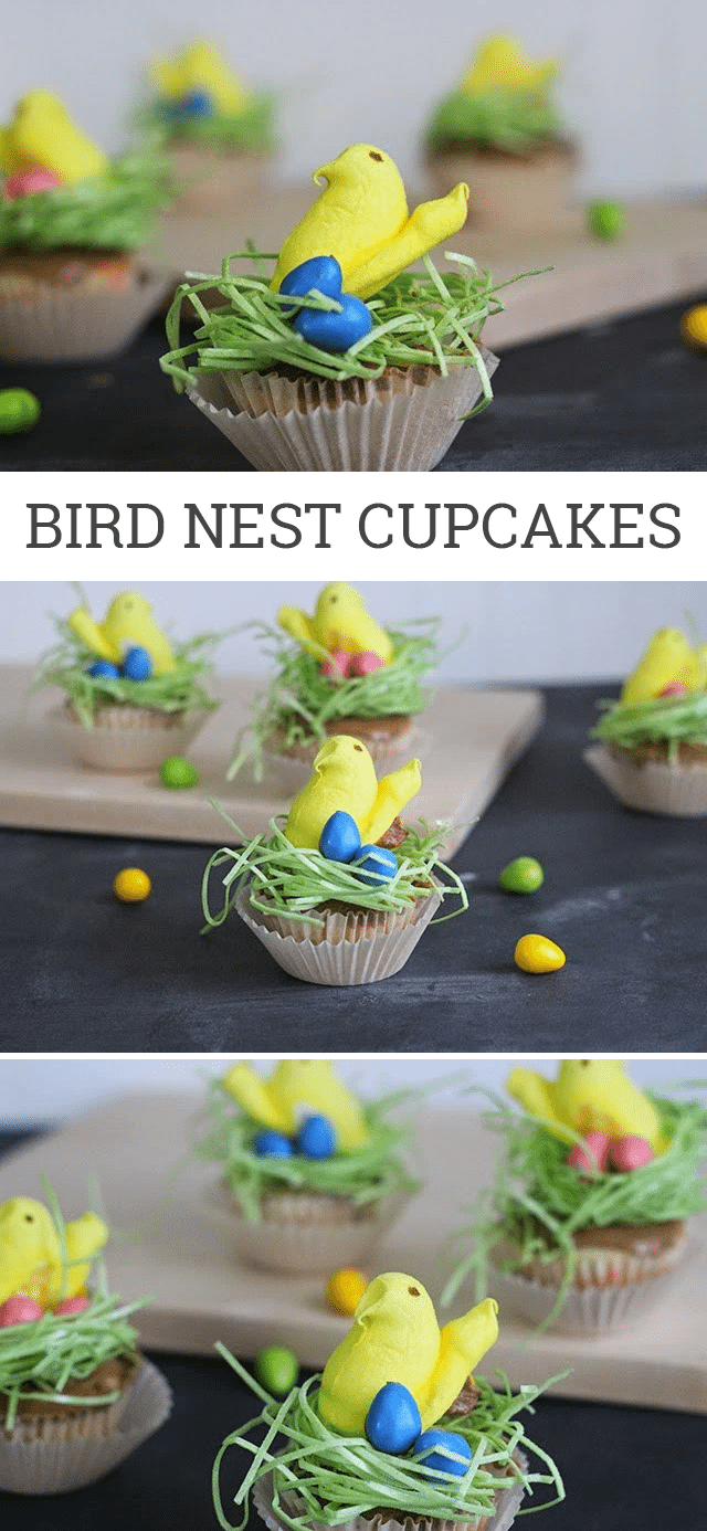 Easy DIY Bird Nest Cupcakes for Easter and Spring