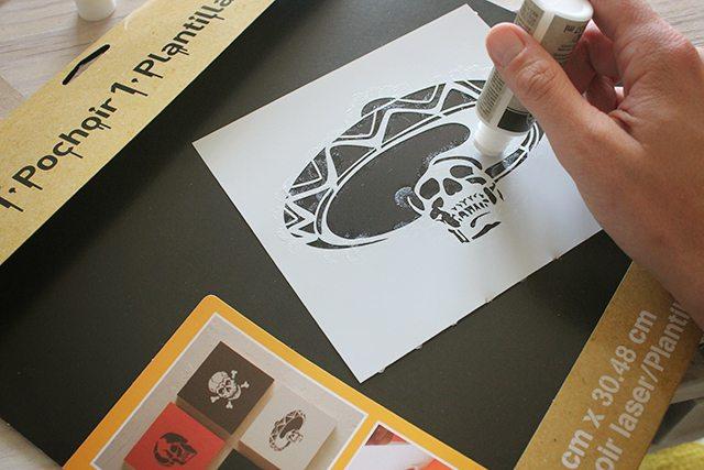 Halloween Skeleton Card Tutorial 1