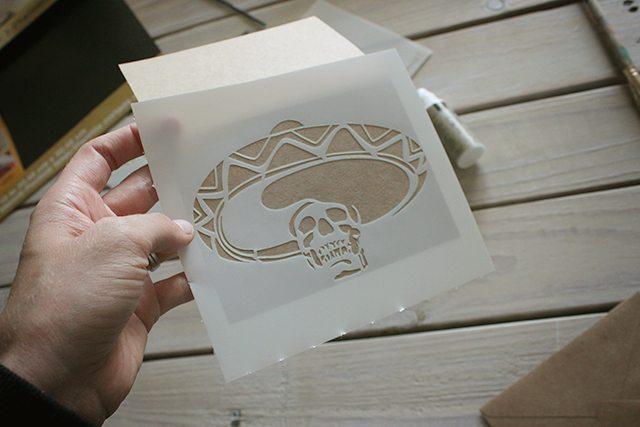 Halloween Skeleton Card Tutorial 2
