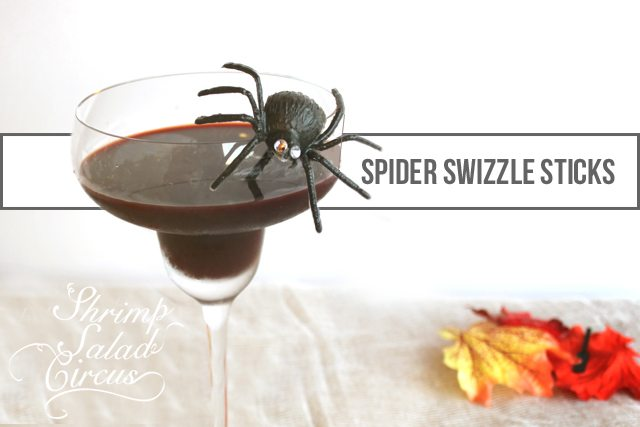 Halloween Spider Drink Stirrers Tutorial