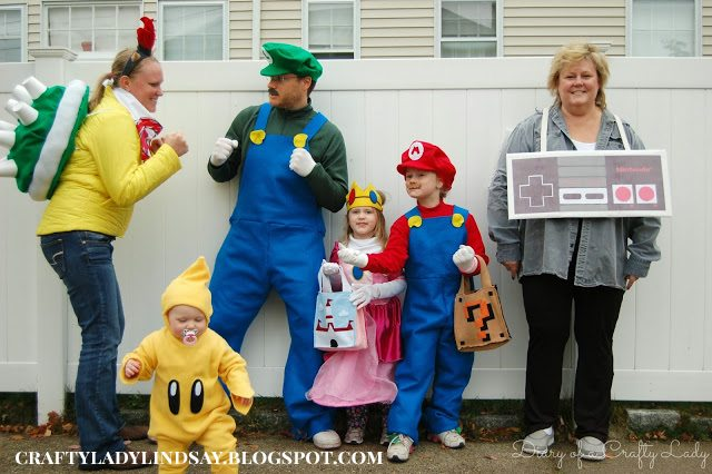 Super Mario Brothers Group Halloween Costume