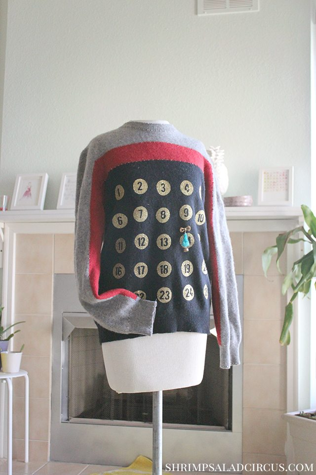 Advent Calendar Christmas Sweater