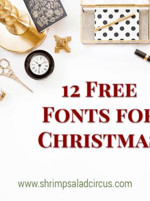 12 Free Christmas Fonts thumbnail