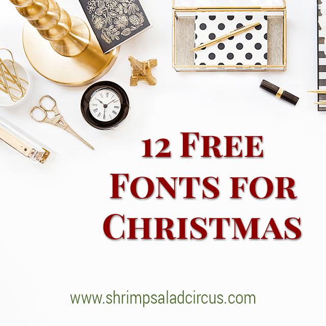 Free Christmas Fonts.12 Free Christmas Fonts