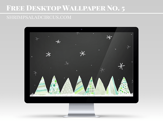 Watercolor Free Christmas Wallpaper from Shrimp Salad Circus