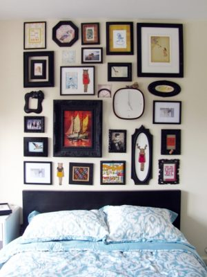 How to Make a Frame Collage Faux Headboard thumbnail