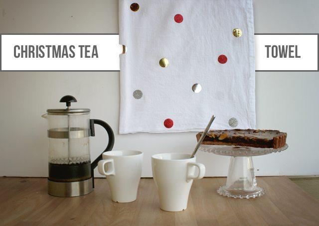 Christmas Confetti Tea Towel Tutorial
