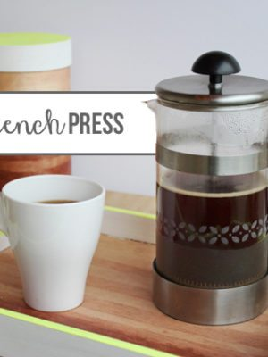 DIY Frosted Glass French Press – How To-sday thumbnail