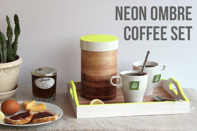 DIY Neon Ombre Coffee Set for Patio or Porch