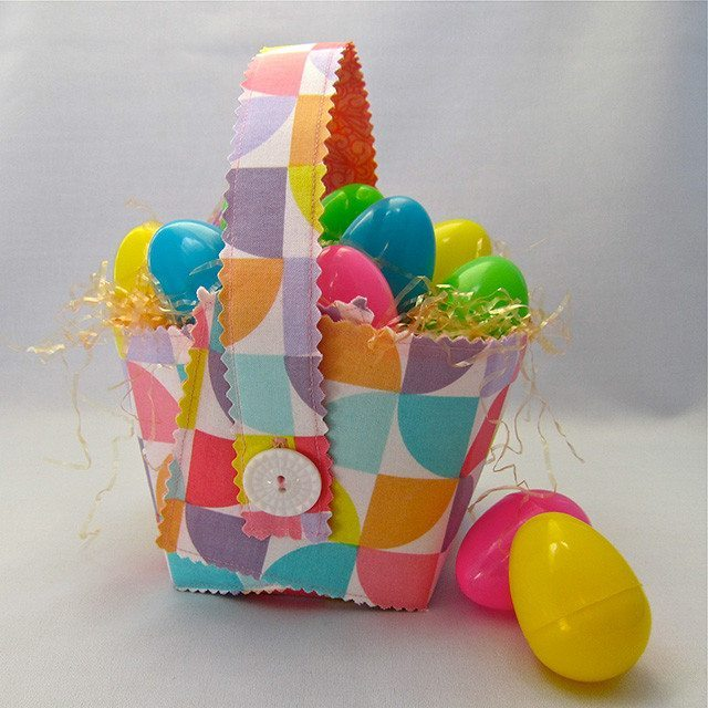 draft your own Easter basket pattern for sewing