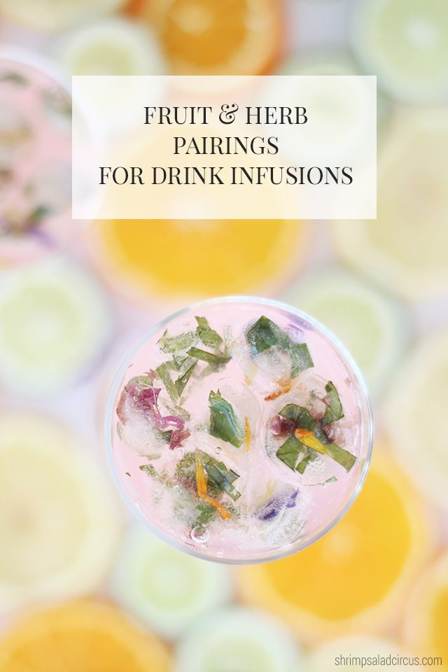 Fruit and Herb Pairing for Drink Infusions