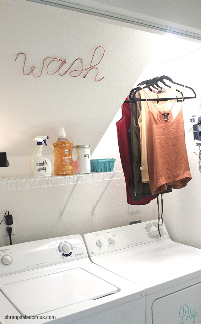 Budget Laundry Room Makeover 12