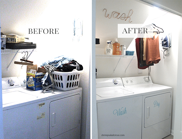 Budget Laundry Room Makeover Before And After