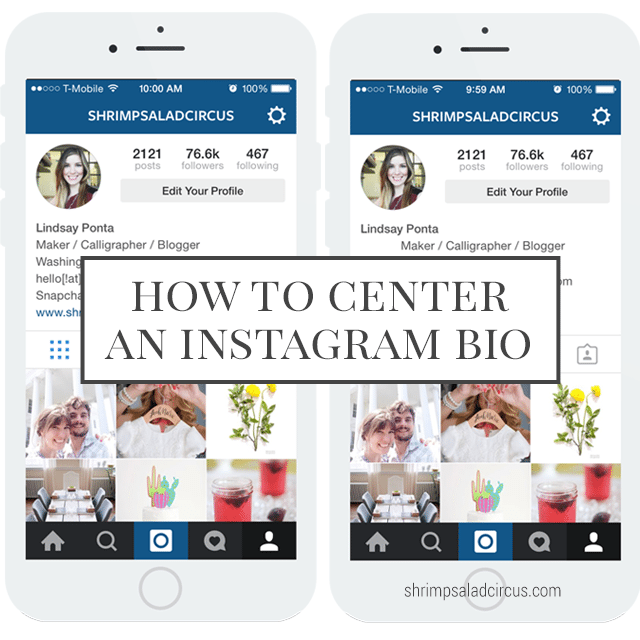 How to Center Your Instagram Bio Shrimp Salad Circus : How to Center Your Instagram Bio1 from www.shrimpsaladcircus.com size 640 x 640 png 83kB