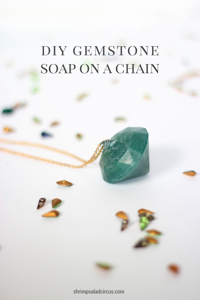 DIY Gemstone Soap on a Chain Tutorial