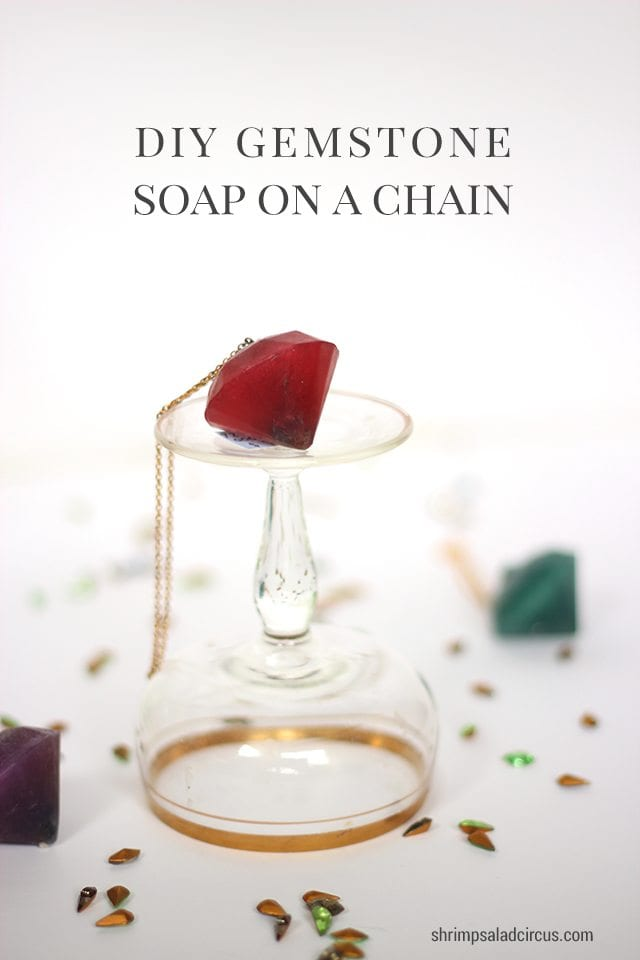 DIY Gemstone Soap on a Chain