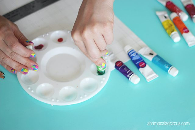 DIY Watercolor Paint Chart Step 2