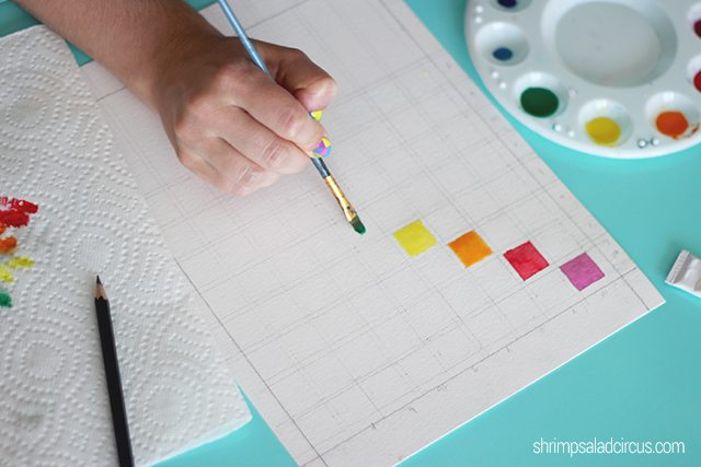 DIY Watercolor Paint Chart Step 3