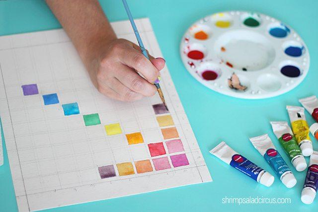 DIY Watercolor Chart Step 4