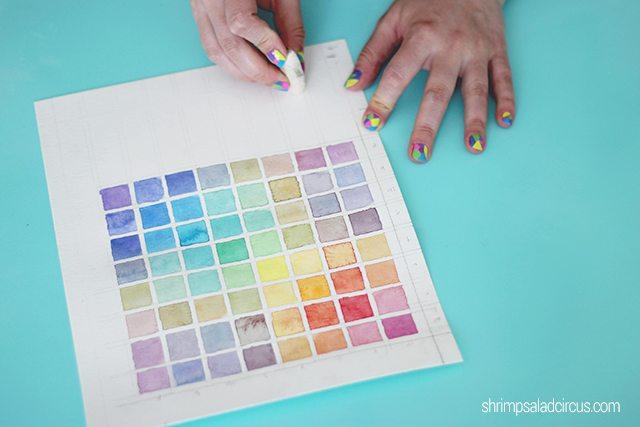 DIY Watercolor Chart Step 5