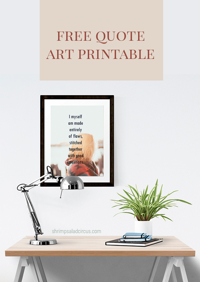 Free Printable Flaws Quote Art