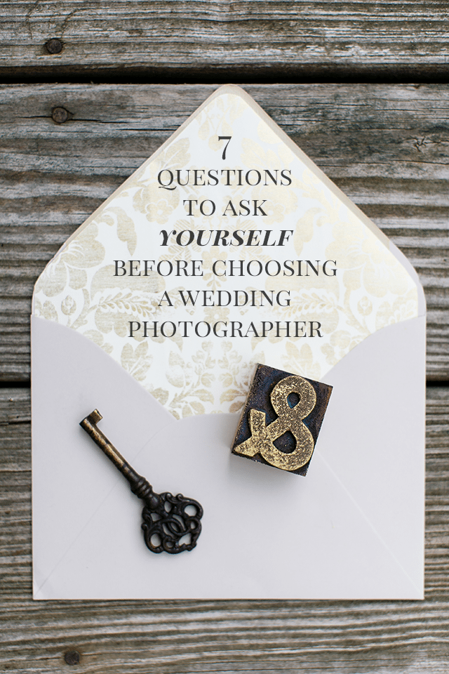 7 Questions to Ask Before Choosing a Wedding Photographer