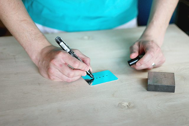 DIY Stamped Metal Bar Tags - Step 1