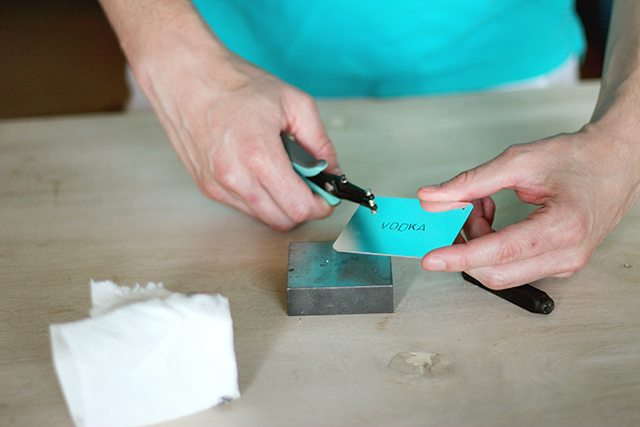 DIY Stamped Metal Bar Tags - Step 5