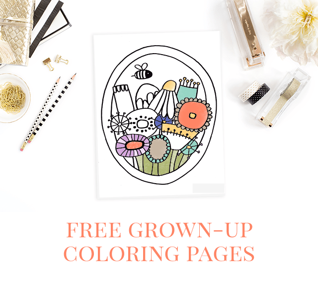 Free Coloring Pages for Adults - Shrimp Salad Circus