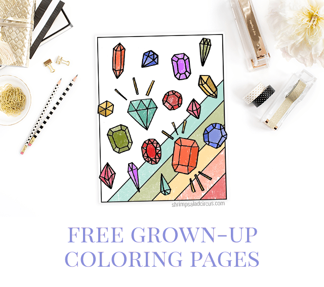 Free Gemstone Coloring Page
