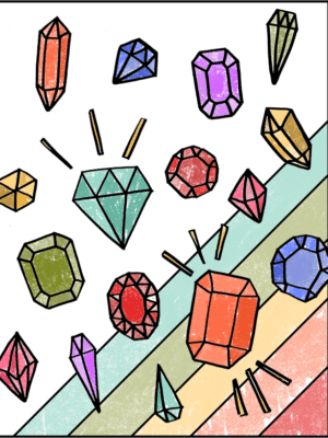 Free Gemstones Coloring Page thumbnail
