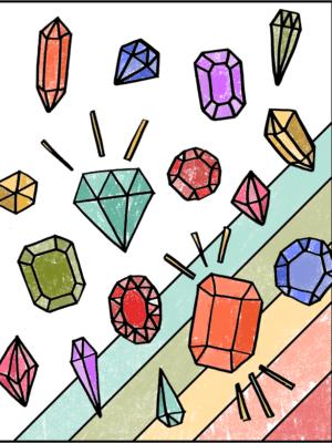 Free Gemstones Coloring Page thumbnail