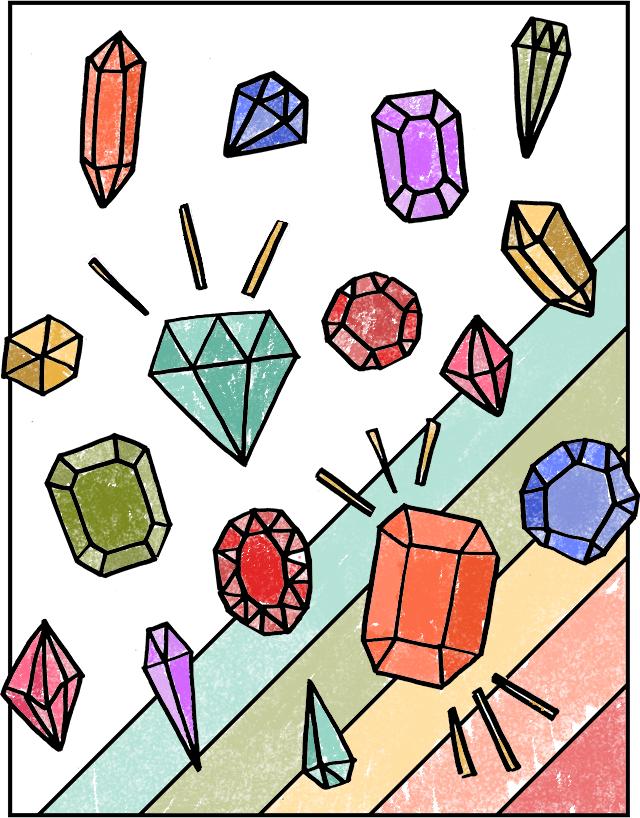 Драгоценные камни раскраска распечатать