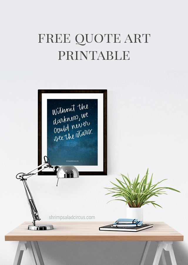 Free Quote Art Printable