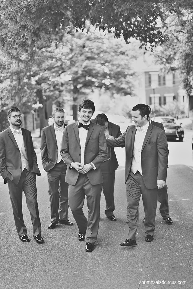 Shrimp Salad Circus Wedding Photos - Groomsmen